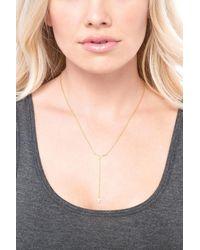 Gorjana - Metallic 'faryn' Y-necklace - Lyst