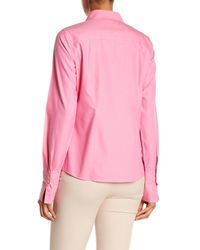 Foxcroft - Pink Lauren Fitted Shirt - Lyst
