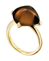 Baccarat | Metallic Medicis Gold Vermeil Prong Set Crystal Ring - Size 8 | Lyst