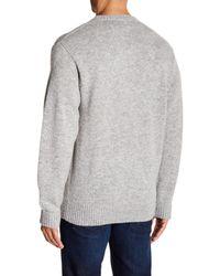 Pendleton Gray Shetland Wool Sweater for men