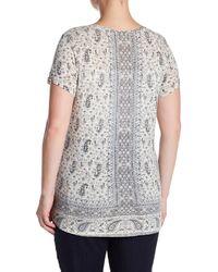 Lucky Brand Blue Erun Print T-shirt (plus Size)