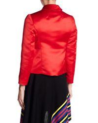 Love Moschino Red Long Sleeve Satin Jacket