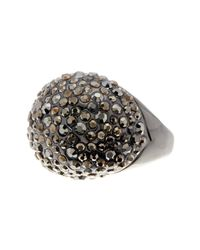 Ariella Collection - Metallic Pave Cocktail Ring - Lyst