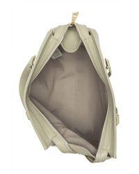 Versace Gray Medusa Head Pebbled Leather Tote Bag