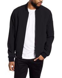 Vince Black Regular Fit Knit Bomber Jacket for men