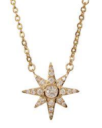Melinda Maria - Metallic Pave Cz Starburst Pendant Necklace - Lyst