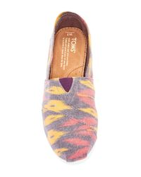 TOMS - Pink Classic Ikat Slip-on - Lyst