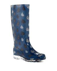 TOMS | Blue Cabrilla Raindrop Waterproof Rain Boot | Lyst