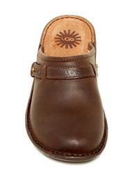 UGG Brown Bridgen Uggpure(tm) Lined Leather Mule