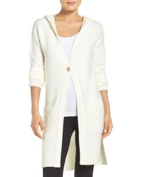 UGG | White Judith Hooded Knit Cardigan | Lyst