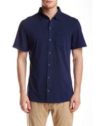 Spenglish | Blue Short Sleeve Snap Button Shirt for Men | Lyst