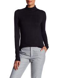 Anne Klein | Black Long Sleeve Turtleneck Blouse | Lyst