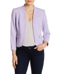 Nine West | Purple Two Pocket Stretch Crepe Blazer | Lyst