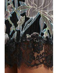 TOPSHOP - Black Floral Slipdress - Lyst