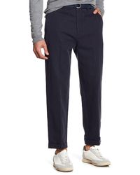 Vince - Blue Relaxed Cropped Trousers for Men - Lyst