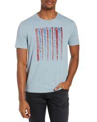 John Varvatos Blue Slim Fit Revolution Graphic T-shirt for men