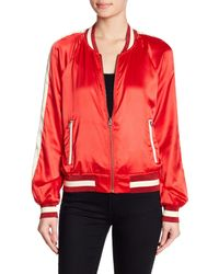 Pam & Gela - Red Colorblock Reversible Track Jacket - Lyst