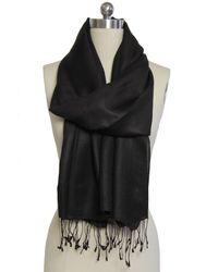 Saachi - Black Lightweight Cashmere & Silk Blend Scarf - Lyst