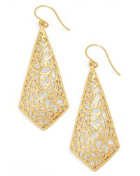 Argento Vivo | Metallic 18k Gold Plated Sterling Silver Triangular Drop Earrings | Lyst