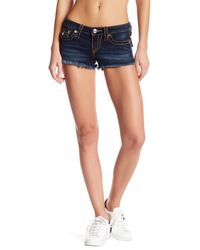 True Religion Blue Cutoff Denim Short