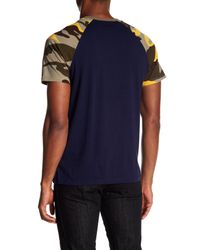 True Religion - Blue High School Raglan Sleeve Tee for Men - Lyst