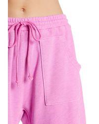 Free People Pink Ventura Raw Hem Sweatpants