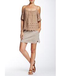 Isy & Ki - Natural French Terry Mini Skirt - Lyst