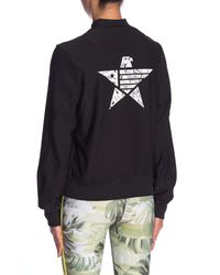 X By Gottex Black Star Bomber Jacket