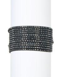 Swarovski | Black Slake Multi Row Crystal Wrap Bracelet | Lyst