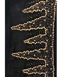 Saachi - Black Beaded Border Wrap - Lyst