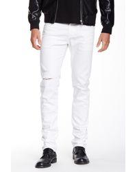 AG Jeans - White Nomad Distressed Modern Slim Fit Jean for Men - Lyst