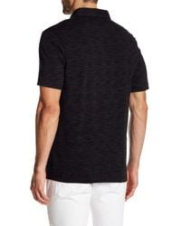 Calibrate - Black Short Sleeve Polo for Men - Lyst