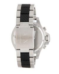 Armani Exchange Black Men's Chronograph Bracelet Watch, 48mm for men