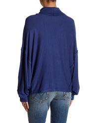 Free People Blue Alameda Dolman Sleeve Sweater