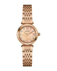Bulova Metallic Women's Diamond Collection Bracelet Watch, 24mm - 0.04 Ctw