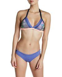 Maaji | Purple Colorblock Signature Cut Reversible Bikini Bottom | Lyst