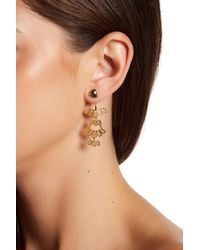Argento Vivo - Metallic 18k Gold Plated Sterling Silver Triangle Stud Tiered Ear Jackets - Lyst