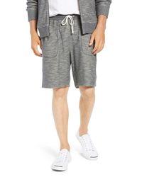 1901 Gray Knit Shorts for men