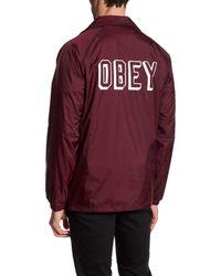 Obey - Multicolor Varsity Coach Jacket for Men - Lyst