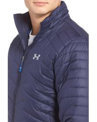 Under Armour Blue Coldgear(r) Reactor Packable Quilted Jacket for men