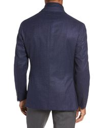 David Donahue - Blue Aaron Classic Fit Wool Blazer for Men - Lyst