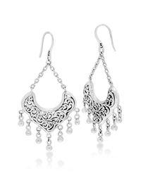 Lois Hill - Metallic Sterling Silver Large Handcrafted Scroll Dangle Earrings - Lyst