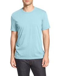 James Perse Blue Crewneck Jersey T-shirt for men