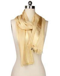 Saachi   Natural Taupe Gold Trim Wrap   Lyst