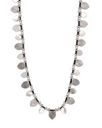 Lucky Brand | Metallic Leather Strand Necklace | Lyst