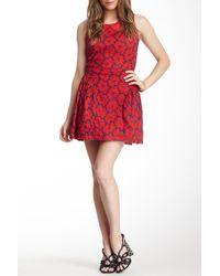 Lavand Red Daisy Skirt