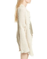 Free People - White I'll Be Around Cardigan - Lyst