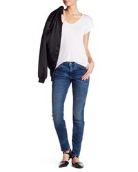 Current/Elliott | Blue Ankle Skinny Jean | Lyst