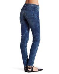 Current/Elliott - Blue Ankle Skinny Jean - Lyst