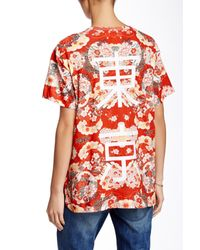 ELEVEN PARIS - Red Floral Tee - Lyst